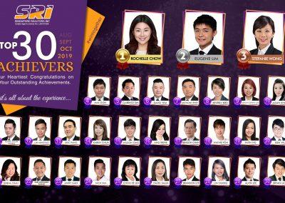 Oct SRi Top achievers