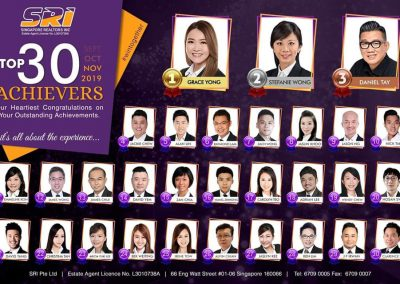 SRI Nov 2019 top achievers