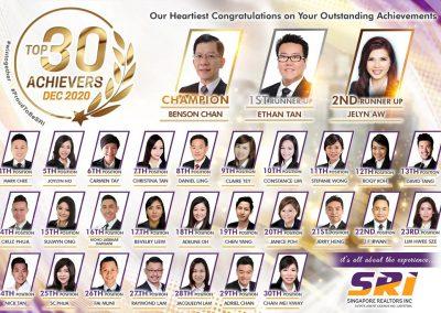 SRI Dec 2020 Achievers